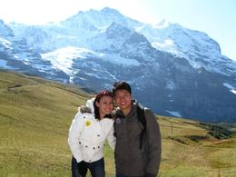 A picture before going up to Top of Europe., Cheai Ting H - October 2008