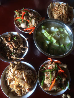 Lunch in local farmhouse - countryside trek outside Chengdu - fresh and delicious! , Julia K - September 2014