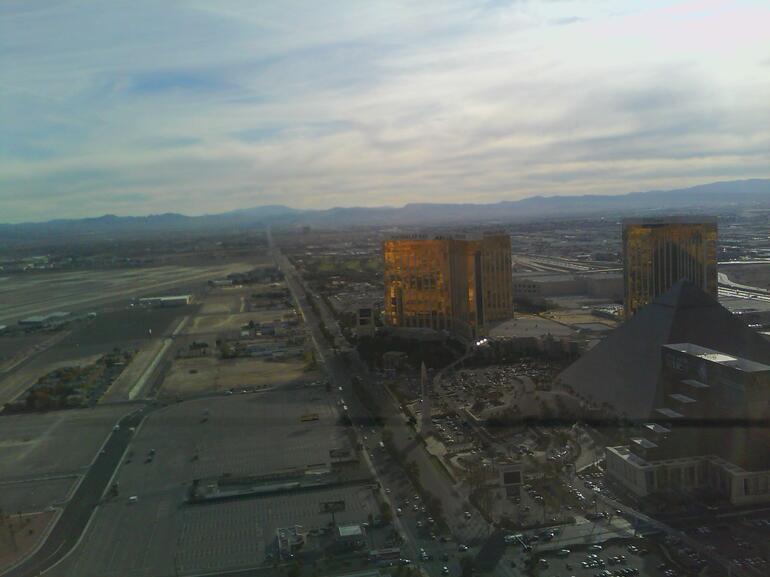 Flying back over the strip - Las Vegas