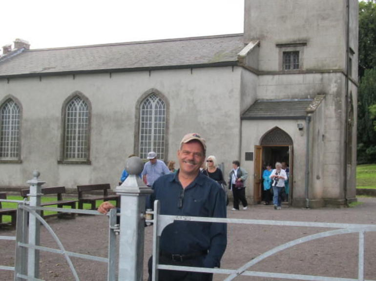 Frank in front of the Tara Visitor Centre - Dublin