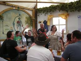 Our group in the Hofbrauhaus tent., Donald A - September 2010