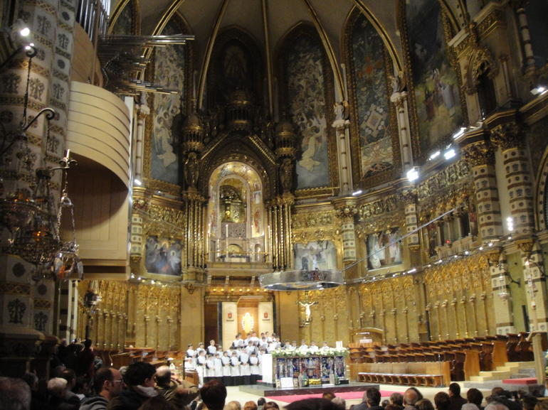 Montserrat Royal Basilica from Barcelona - Barcelona