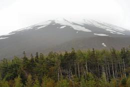 A view from the 5th station on Mount Fuji (approximately 2300 metres) on a wet and cloudy June day. We arrived by bus tour from Tokyo., Derek H - June 2009