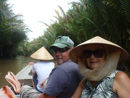 Cheryl and Richard up the Mekong Delta! , Cheryl G - December 2015