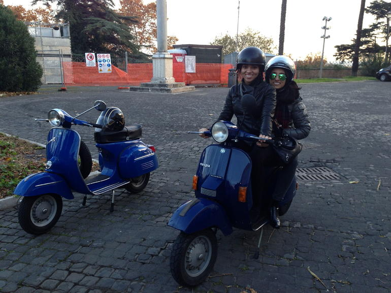 On the 'Rome Vespa Tour' - Rome