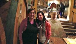 With the lovely Franca, our personal chef - July 2013