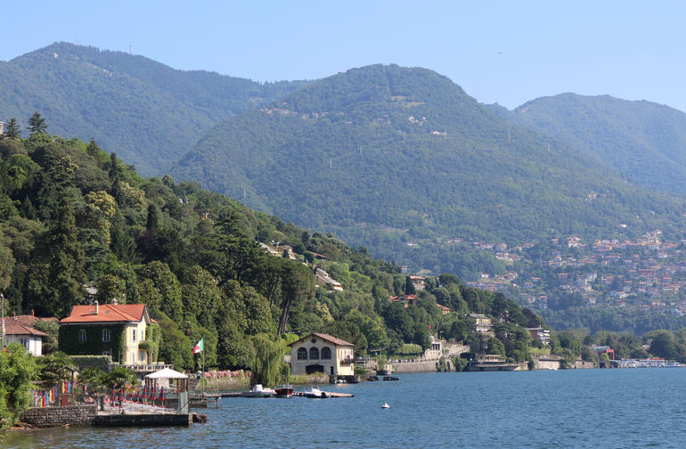 View of lake from Villa Olmo - Milan