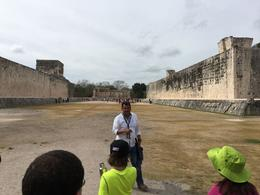 Our guide, Marco, explaining the Mayan Ball game , Robert C - February 2017