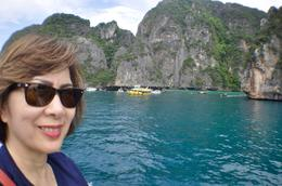 MY WIFE ENJOYING THE VIEW OF JAMES BOND ISLAND , larcy - October 2017