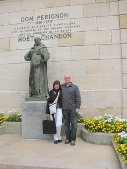 We took a photo in front of the Dom Pergnon statue at Moet & Chandon. My wife and I had a great time on this tour. It was very relaxing and the tour guides were great. - September 2009