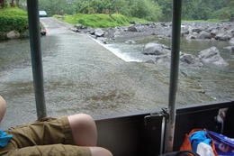 Parts of the road goes through the river. , Christieco - August 2014