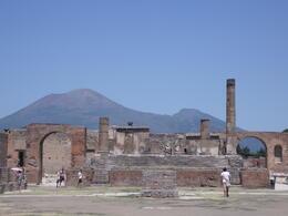 Pompeii ruins , Janet - August 2012