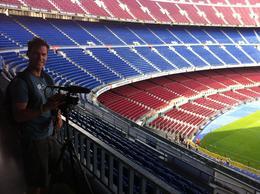 In the stadium, Ryan & Asha - September 2012