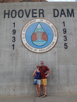 dawn and steve dockerill at the hoover dam, May 2014 , Dawn D - May 2014