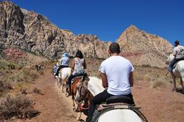Horseback riding through Red Rock National Park - Follow the leader - horses are great for first time riders. Wranglers made sure everyone was ok., Marcelino L - September 2010