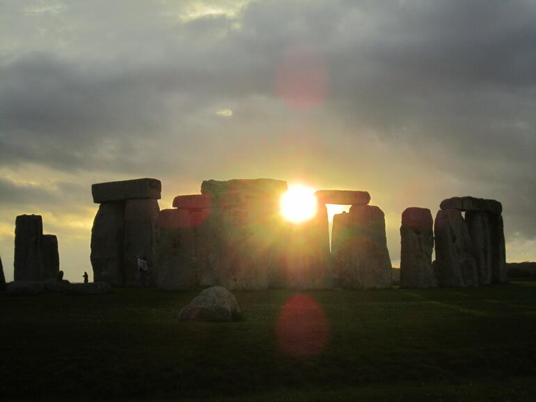 Me, the sun, and Stonehenge!!! - London