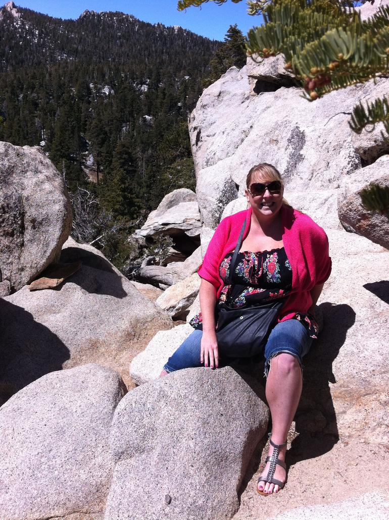 me with a massive drop behind me after that rock - Palm Springs