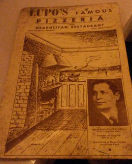 An original menu from Tomasso's, Emily G - June 2015