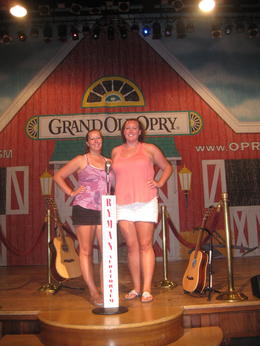 Posing with the Opry set. , clairemc - August 2011