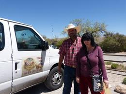 Our driver and guide Jeff with my wife , Stephen B - May 2014