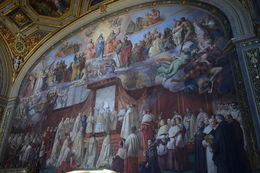If memory serves, this mural depicts the procalmation of Constantine as head of the church. , EhViator - September 2015