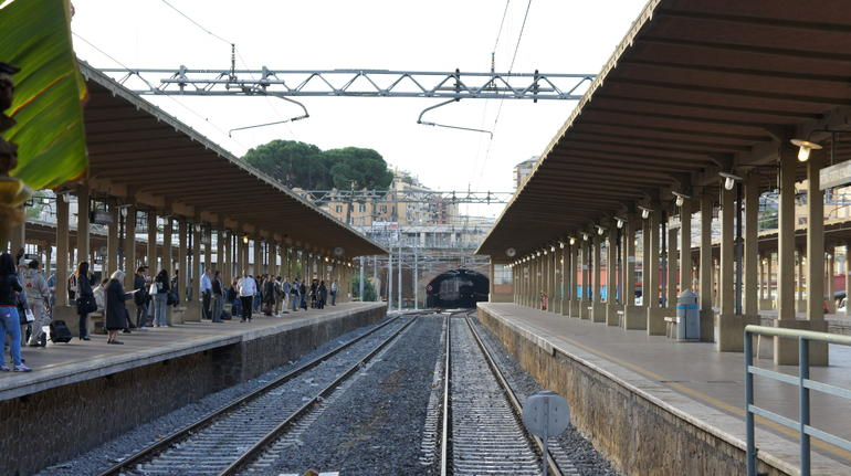 Train station at Ostea Antica - Rome