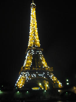 Eiffel tower lightning up whilst on the cruise! magical , GRaeme M - September 2011