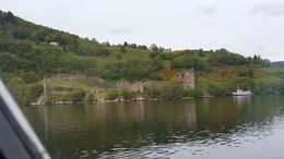View of Urquhart of Castle from the cruise boat. , Cathy Hammond - September 2015