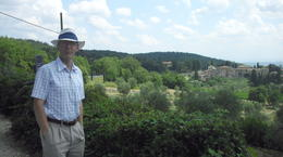 My husband at the view point over the Chianti valley. , Sheila P - August 2014
