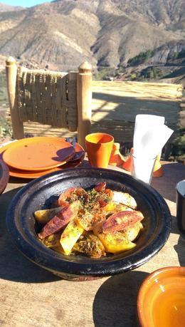 Chicken tagine prepared over coals by a berber family. delicious! , clairebearaggie - November 2016