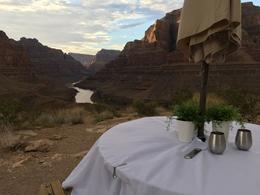 Dinner with a view at the bottom of Grand Canyon , WanderingScallywag - September 2017