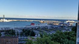 View of the port from Montjuic hill , julyzoa - November 2017