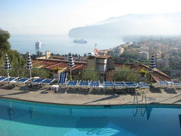 view from pool at hotel in sorrento , jesus b - September 2011