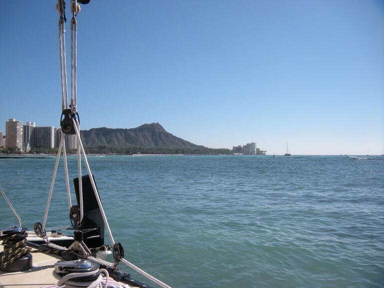 Aboard the Mai Tai Catamaran - Oahu