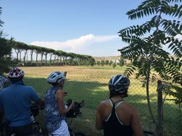 Riding the Appian Way and visiting the Catacoumbs in Rome. , Kim K - September 2015