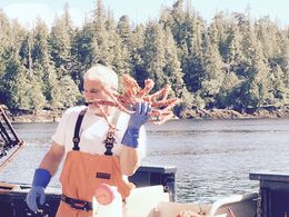 One of the tour leaders with his catch , cherylmiller - September 2015