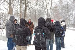 Guided tour in the snow shower., Peter M - February 2009