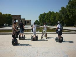 Our tour guide explains why we find an Egytian monument in Central Madrid , Adrian R - September 2012