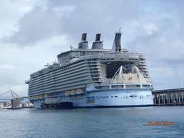 De haven wordt geregeld bezocht door grote cruise schepen. Boottocht is gratis als je de Barcelona kaart hebt. , Ron B - September 2014