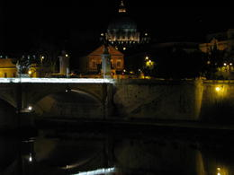View of Saint Peter's at night from the Tiber , MD - March 2012