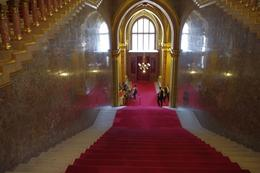 What a stunning view from the top! Look at the beautiful soft red carpet on the stairs. The main entrance door is the one right down the stairs in the middle of the photo., Elmarie Magda D - August 2010
