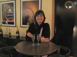 Having a little Champagne after our tour of the Mumm's Champagne House. - September 2009