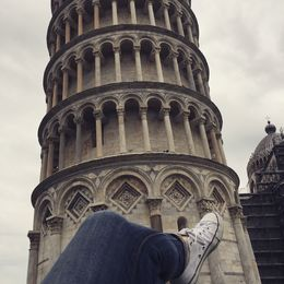 Laying on the Pisa lawn.... , Stephanie C - June 2015