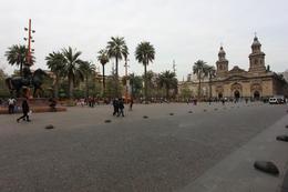 Panoramic view of the Plaza Mayor in Santiago, Bandit - October 2013