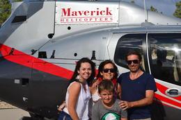 Toute la famille ravie après le survol du Grand Canyon , Ludovic H - August 2014