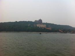 Summer Palace in the distance seen from aboard the Dragon Boat., Julie - June 2012