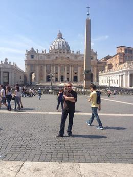 outside the vatican , Mark K - April 2014