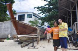 ME W/ LOCAL BOAT BUILDERS IN PHI PHI ISLAND , larcy - October 2017