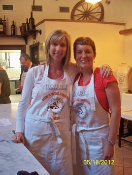 Helen and Lynn are ready to get started! , Helen D - May 2012