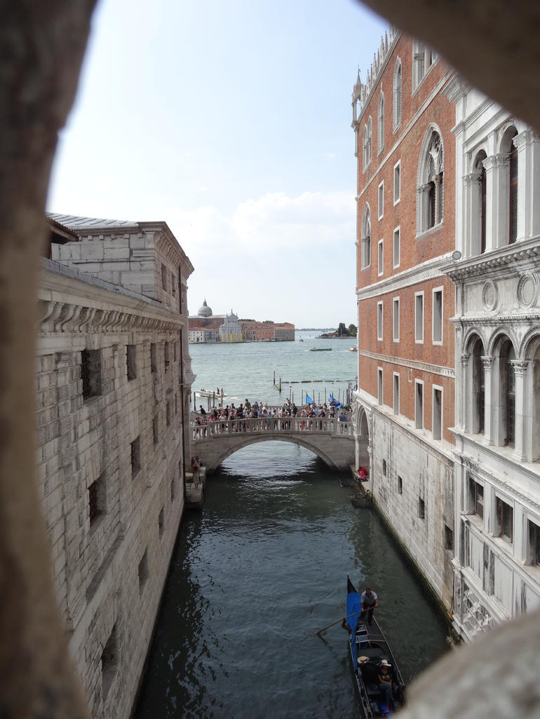 a view from the Bridge of Sighs - Venice
